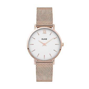 Cluse Unisex Minuit Rose Gold Circle Quartz Fashion Watch CW0101203001