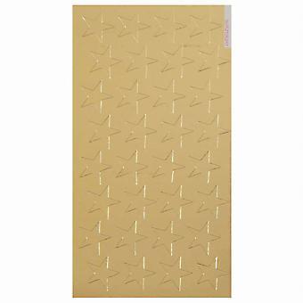 """1/2"""" Oro (250) Pegatinas de Estrella de Papel de Aluminio Presto-Stick"""