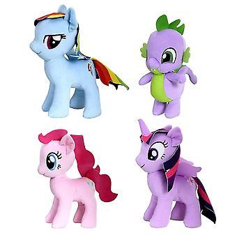 4-Pack My Little Pony Stuffed Animal Rainbow Dash Spike Pinkie Pie Twilight Sparkle