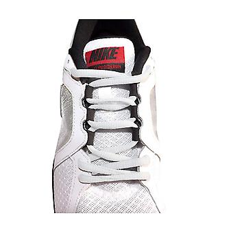 White Oval Sports Trainer Shoelaces