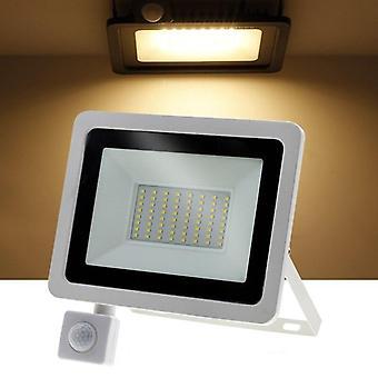 Adjustable Floodlight With Pir Motion Sensor Outdoor Led Spotlight For Garden,
