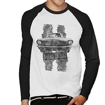 Ford Mustang Stripe Hombres&s Baseball Camiseta de manga larga
