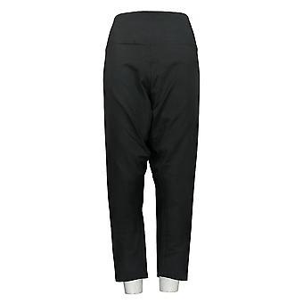 Women with Control Women's Petite Pants Tummy Control Black A366539
