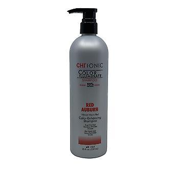 CHI Ionic Color Enhancing Shampoo PH 5.5 Red Auburn 25 OZ