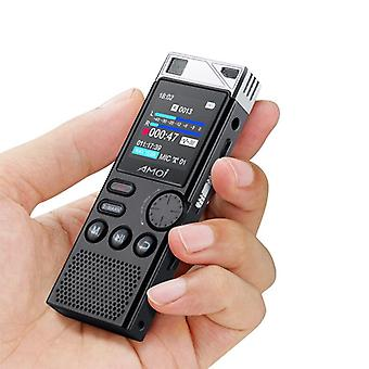 Amoi a80 digital voice recorder professional dictaphone hd noise reduction voice activated lossless mp3 player business meeting