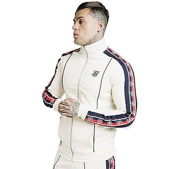 Sik Silk Ss-17274 retro embudo cuello cinta cremallera top - Off White