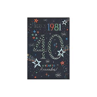 ICG Ltd 2021 Mies 40 vuosi Olet syntynyt syntymäpäiväkortti