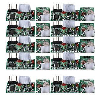 3V-12V 433Mhz Wireless AK-T01 Transmitter &AK-R03A Receiver Module Set of 10