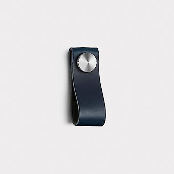 Small Leather Cabinet Pull - Blue