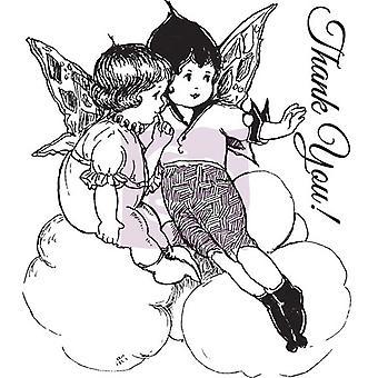 "Prima Pretty Fairy Geïllustreerde Clear Stamps 2.5 ""X3"" Dank u. - Dank u."