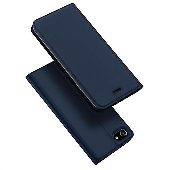 For iphone se 2020 case shockproof anti fall flip flap cover blue