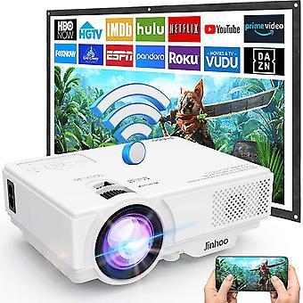 [WiFi Beamer] Beamer, Wireless Beamer 5000 Lumen Untersttzt 1080P Full HD, WiFi Projektor Native