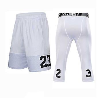Pantalones cortos de baloncesto + medias establece el gimnasio deportivo