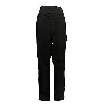DG2 Af Diane Gilman Women's Jeans Stretch Skinny Black 733923