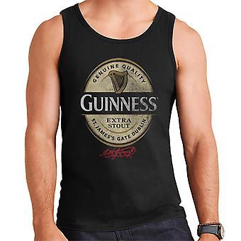 Guinness Stout Label Logo Menn's Vest