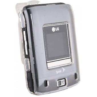 Protective Shield Case with Swivel Belt Clip for LG Lotus LX600 - Clear