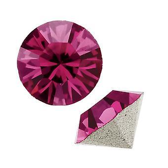 Swarovski Crystal, #1088 Xirius Round Stone Chatons ss39, 6 Pieces, Fuchsia