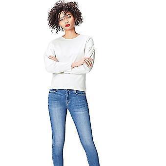 Amazon brand - find. Women's Cotton Top, White, 44, Label: M