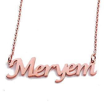 KL MERYEM custom name Rose kullattu kaulakoru 18 karat säädettävä ketju 16 19 cm.