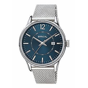 Reloj breil para hombre simultáneamente monocolor azul movimiento sólo tiempo - 3H cuarzo y pulsera de acero TW1560