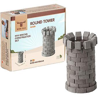 FengChun Round Tower wiederverwendbare Bausatz, 90 PCS, pädagogisches Spielzeug, Architektur, Modell-Kit