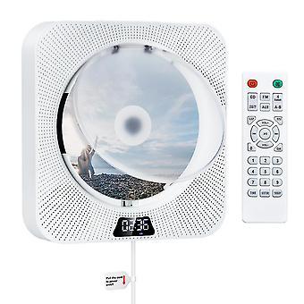Wandmontage cd-speler met Bluetooth ingebouwde 2 Hifi-luidsprekers Lcd