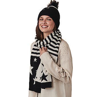 طاقم الملابس المرأة قبعة ووشاح مجموعة الشتاء الدافئ