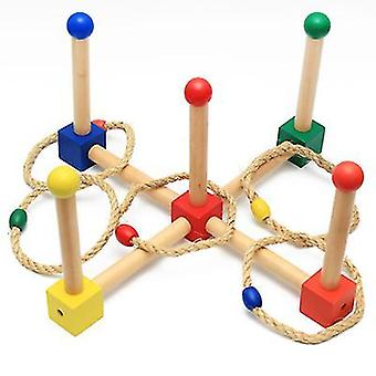 Montessori early childhood toys for children, wooden hand-eye coordination throwing ring az6446