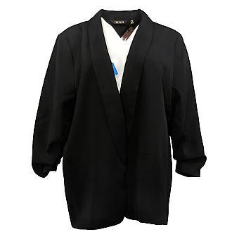 IMAN Global Chic Women's X-Large Everyday Lined Blazer Black 740717