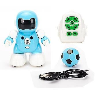للعبة RC كرة القدم روبوت قابل للبرمجة USB البعيد شحن الذكية الروبوتات ألعاب الهدايا للطفل (الأزرق) WS18050