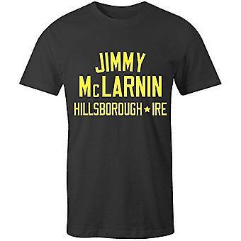 Sporting empire jimmy mclarnin boxing legend t-shirt black/yellow, large