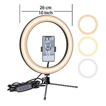 6.3 -10 Inch selfie ring light phone led camera ring lamp photography usb dimmable with tripod stand holder for makeup youtube