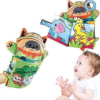 Baby Cartoon Animal Memory Bite Puppet Cloth Book