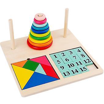 Dřevěná dětská logická hračka, vzdělávací hračka pro rané vzdělávání