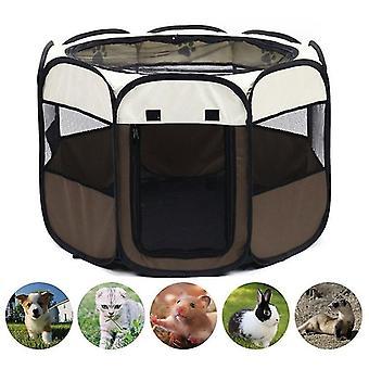 Przenośny składany namiot dla psów dom ośmiokątny klatka dla kotów namiot playpen puppy hodowla łatwa obsługa