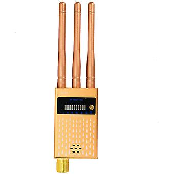 Spiondetektor, Kameradetektor Trådløs RF spiondetektor for skjult kamera, GSM, lytteenhet, radar, frekvensdetektor, GPS-lokator, skanner, trådløs alarm (gull)