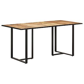 """שולחן אוכל vidaXL 160 ס""""מ עץ מנגו מחוספס"""