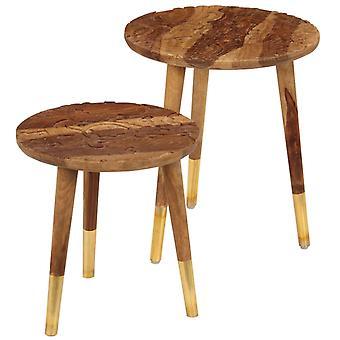 vidaXL coffee tables 2 pcs. solid wood