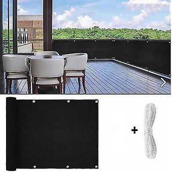 Balcony View Breeze Privacy Screen Breeze Sewing Buckle Outdoor Awning Balcony Garden(0.9*5m)