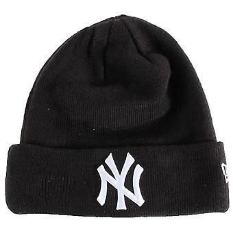 New York Yankees Essential Cuff Beanie - Musta/Valkoinen