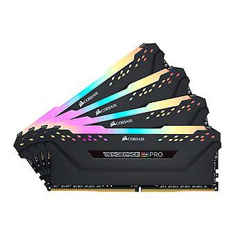 Corsair Vengeance RGB Pro 32GB (4x8GB) DDR4 PC4-25600C16 3200MHz Dual/Quad Channel Kit - Svart
