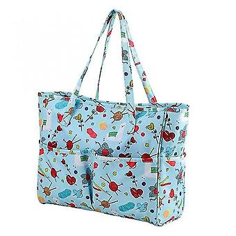 Printed Embroidery Storage Bags Large Capacity Household Knitting Organizer Crochet
