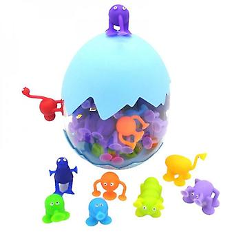 Kids Silicone Suction Cup Bath Toy 36 Pieces Building Blocks Suction Cup Diy Pop Squigz Fun Creative Gifts