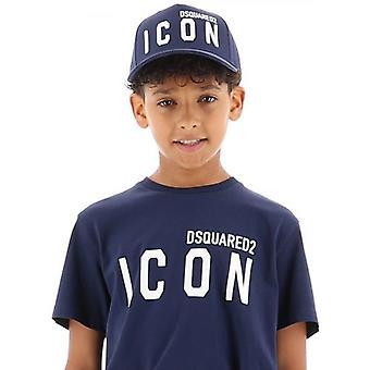 DSQUARED2 Kids Navy Icon Baseball Cap