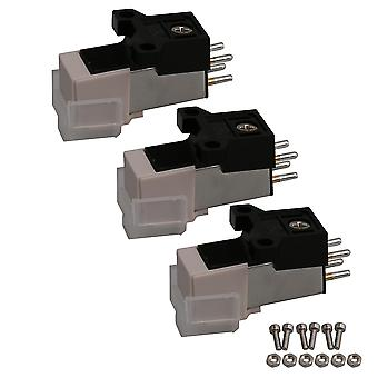 Turntable accessories 3 pcs turntable phono cartridge replacement parts for vinyl record