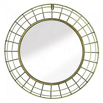 Accent Plus Dome-Style Frame Round Gold Wire Wall Mirror, Pack of 1