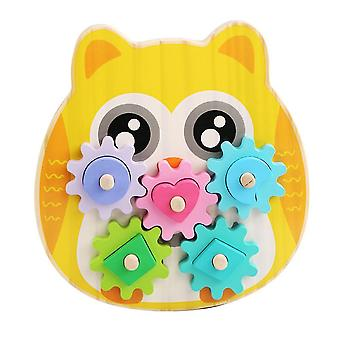 Caraele Turn Happy Children Focus Training Gear Combination Fun Games Early Education Toys
