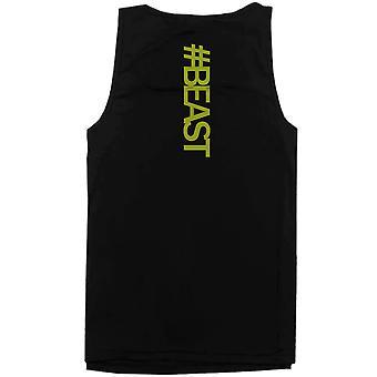 #Beast Neon Back Print Men's Work Out Tank Top Gym Sleeveless Beast Tanks