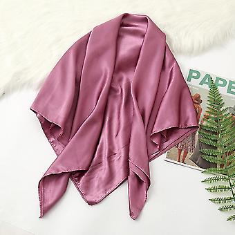 35in Satin Head Scarves Vintage Square Scarf Silk Feeling, Leather Red