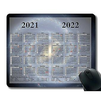 Keyboard mouse wrist rests 220x180x3 gaming mouse pad 2021 year calendar with holiday aerial view of clouds in sky gaming
